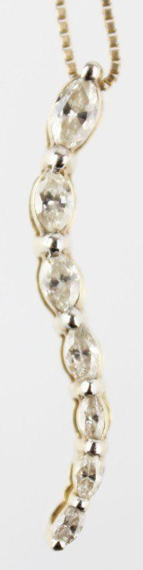LADIES 14K DIAMOND MARQUISE JOURNEY PENDANT