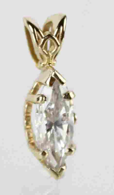 LADIES 1 CARAT DIAMOND MARQUISE PENDANT