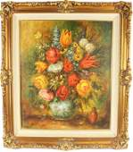 GOTTFRIED VAN PELT FLORAL STILL LIFE OIL ON CANVAS
