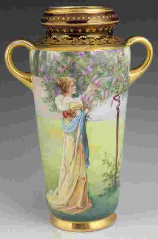 royal vienna hand painted porcelain vase lilacs. Black Bedroom Furniture Sets. Home Design Ideas