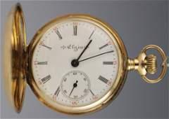 1903 14K ELGIN DIAMOND LADIES POCKET WATCH