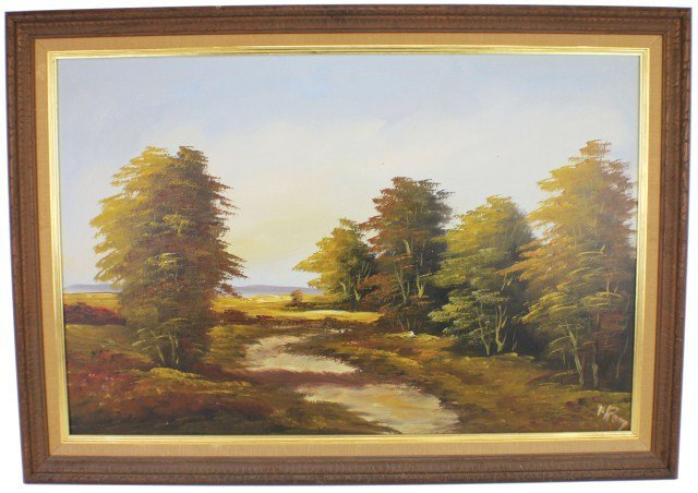 OIL ON CANVAS LANDSCAPE V. ROOY