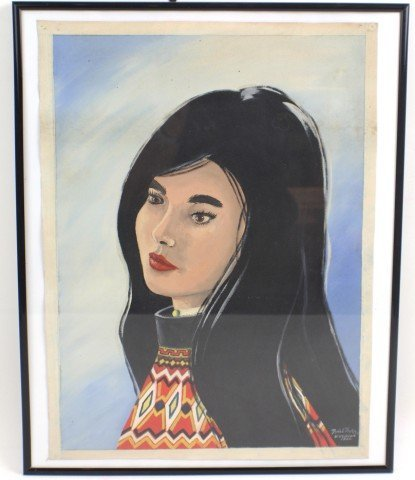 THORSEN OIL PORTRAIT OF GIRL KULUSK GREENLAND