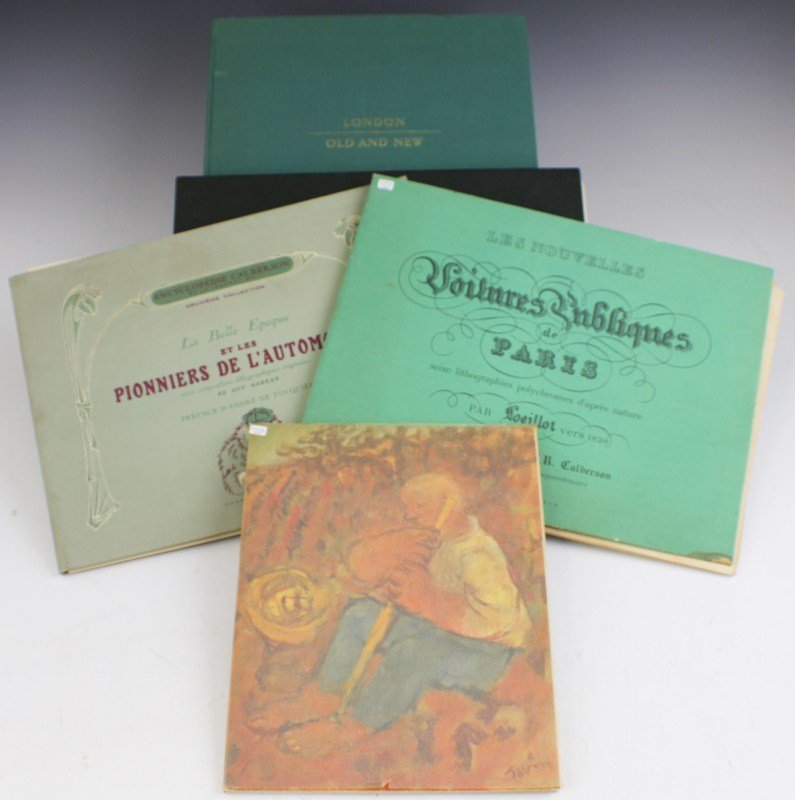 LOT OF 5 LITHOGRAPH BOOKS