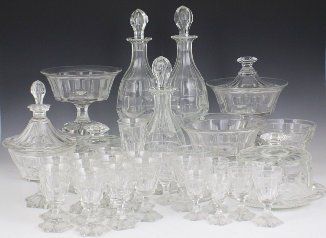 EARLY 20TH CENTURY CLEAR GLASS TABLE WARE