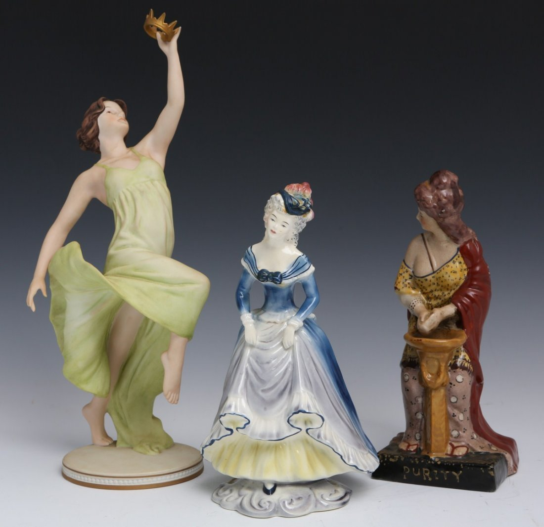 3 PORCELAIN WOMEN FIGURES