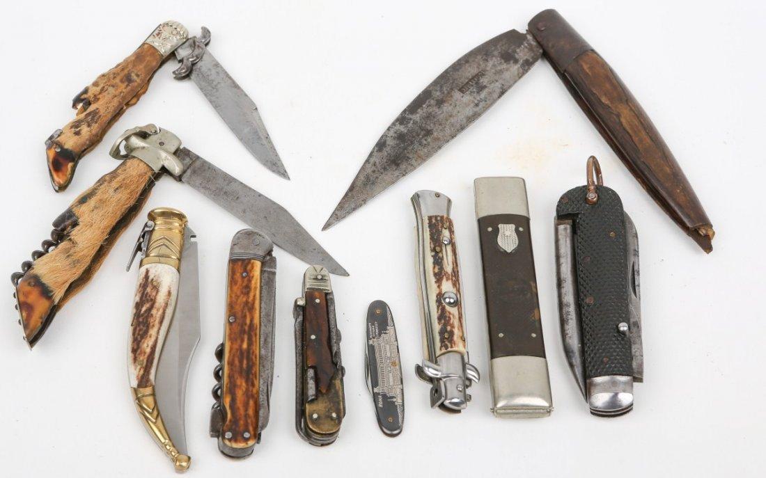 LOT OF 10 VINTAGE POCKET & FOLDING KNIVES