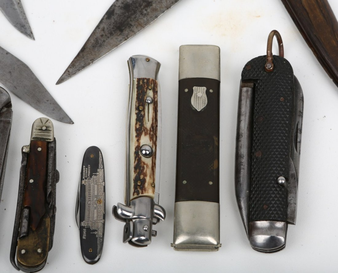 LOT OF 10 VINTAGE POCKET & FOLDING KNIVES - 2