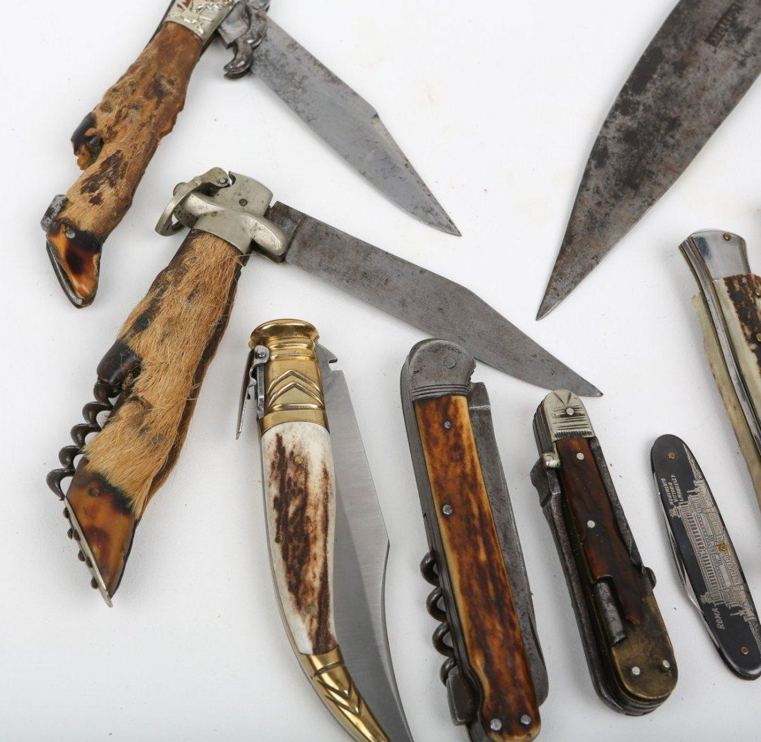 LOT OF 10 VINTAGE POCKET & FOLDING KNIVES - 3
