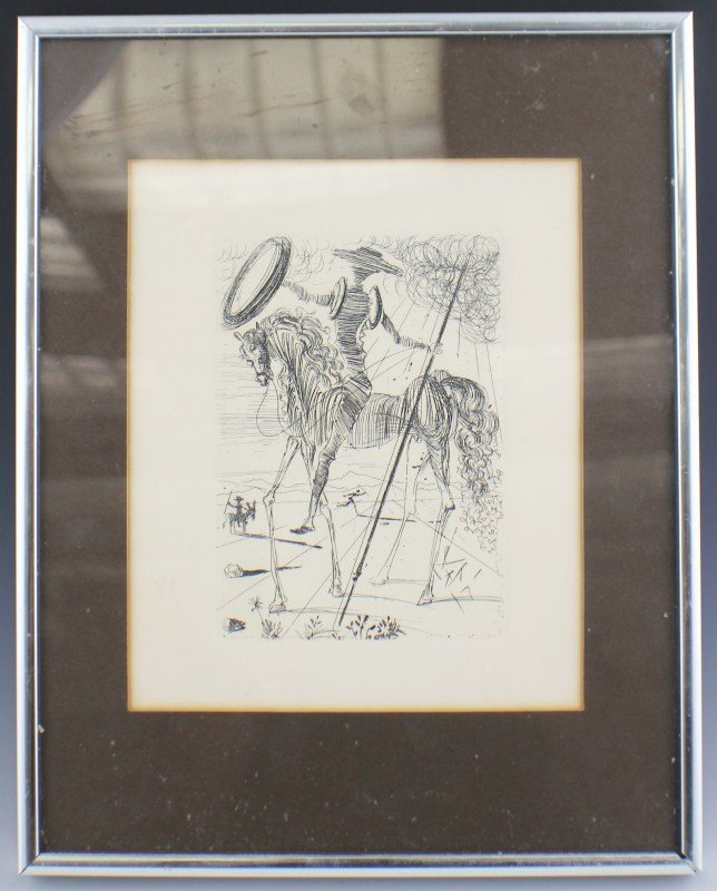 SALVADOR DALI - DON QUIXOTE ETCHING