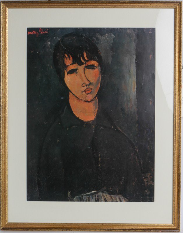 AFTER MODIGLIANI PRINT PORTRAIT OF A WOMAN