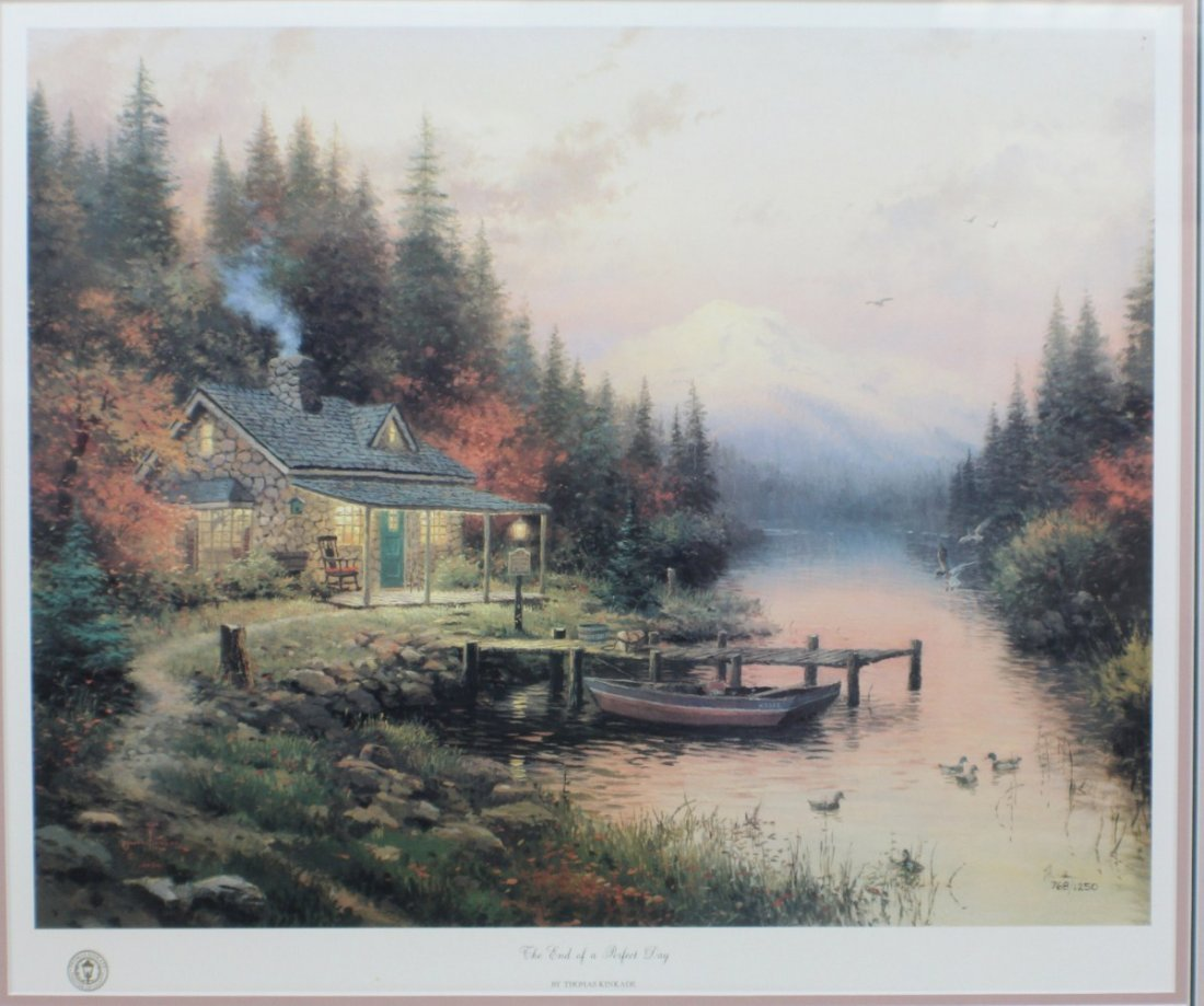 THOMAS KINKADE END OF A PERFECT DAY SIGNED