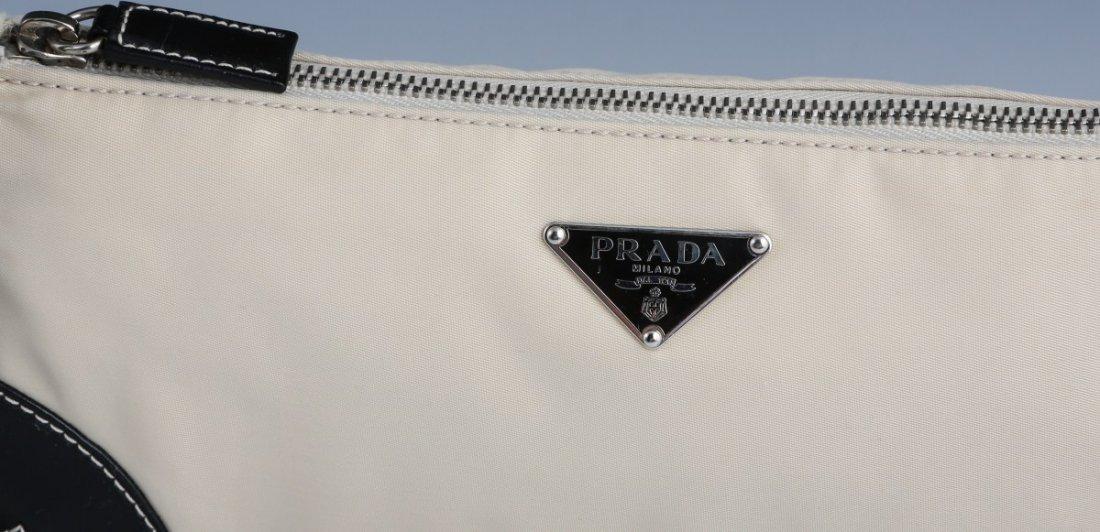 PRADA CREAM COLORED LEATHER SEMITRACOLLA HAND BAG - 2