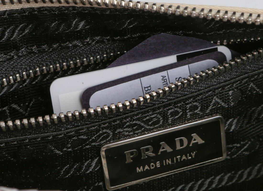 PRADA CREAM COLORED LEATHER SEMITRACOLLA HAND BAG - 3