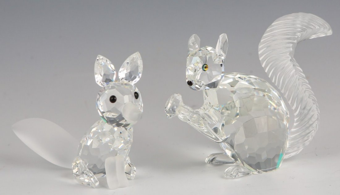 LOT OF TWO SWAROVSKI SCS ANIMAL FIGURINES