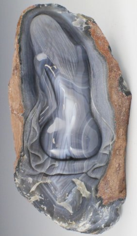 LARGE CHINESE CARVED AGATE BOULDER NUDE