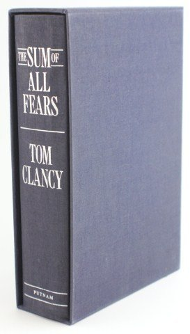 TOM CLANCY - SUM OF ALL FEARS SIGNED EDITION