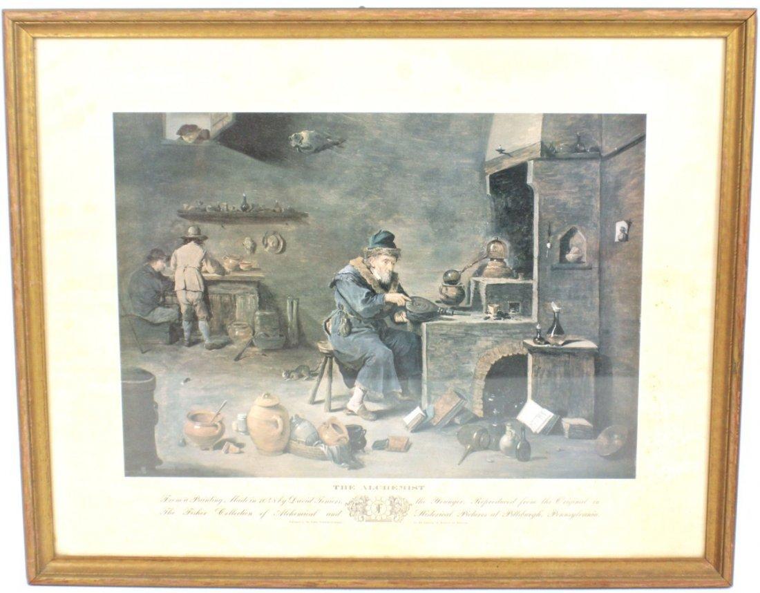 FISHER SCIENTIFIC ALCHEMY PRINT DAVID TENIERS 1648