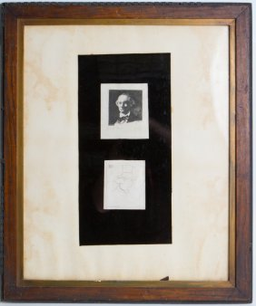 MANET GROUP OF TWO ETCHINGS OF BAUDELAIRE