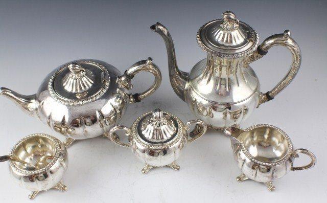 ENGLISH SILVER MFG CORP PLATED TEA SERVICE - 2