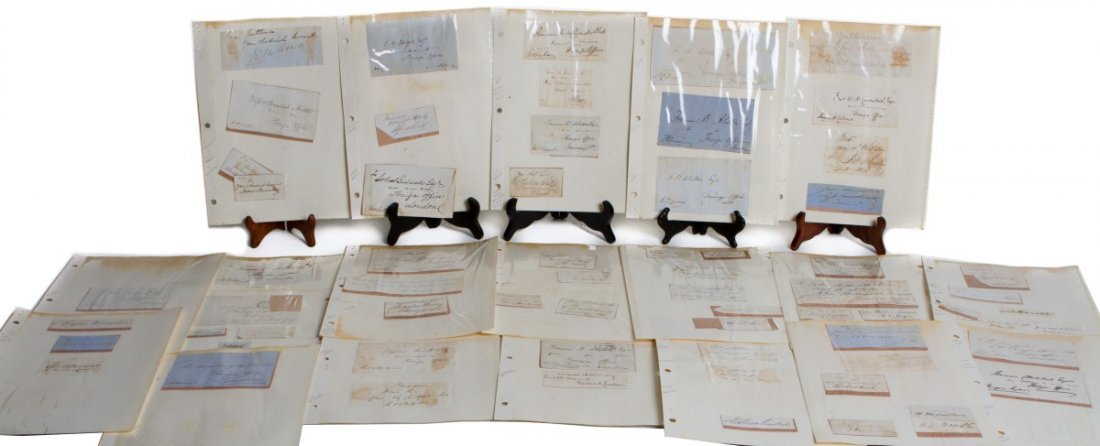 LARGE LOT 19TH CENTURY CONSULAR OFFICER SIGNATURES