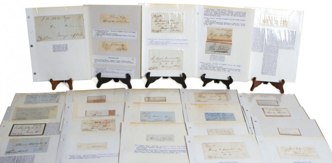 LOT OF 19TH CENTURY BRITISH DIPLOMAT SIGNATURES