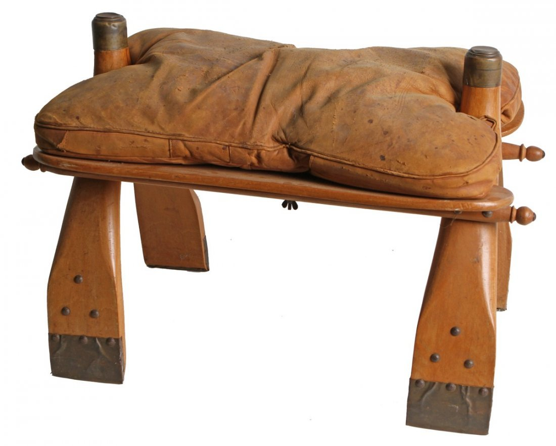 ANTIQUE LEATHER CAMEL SADDLE