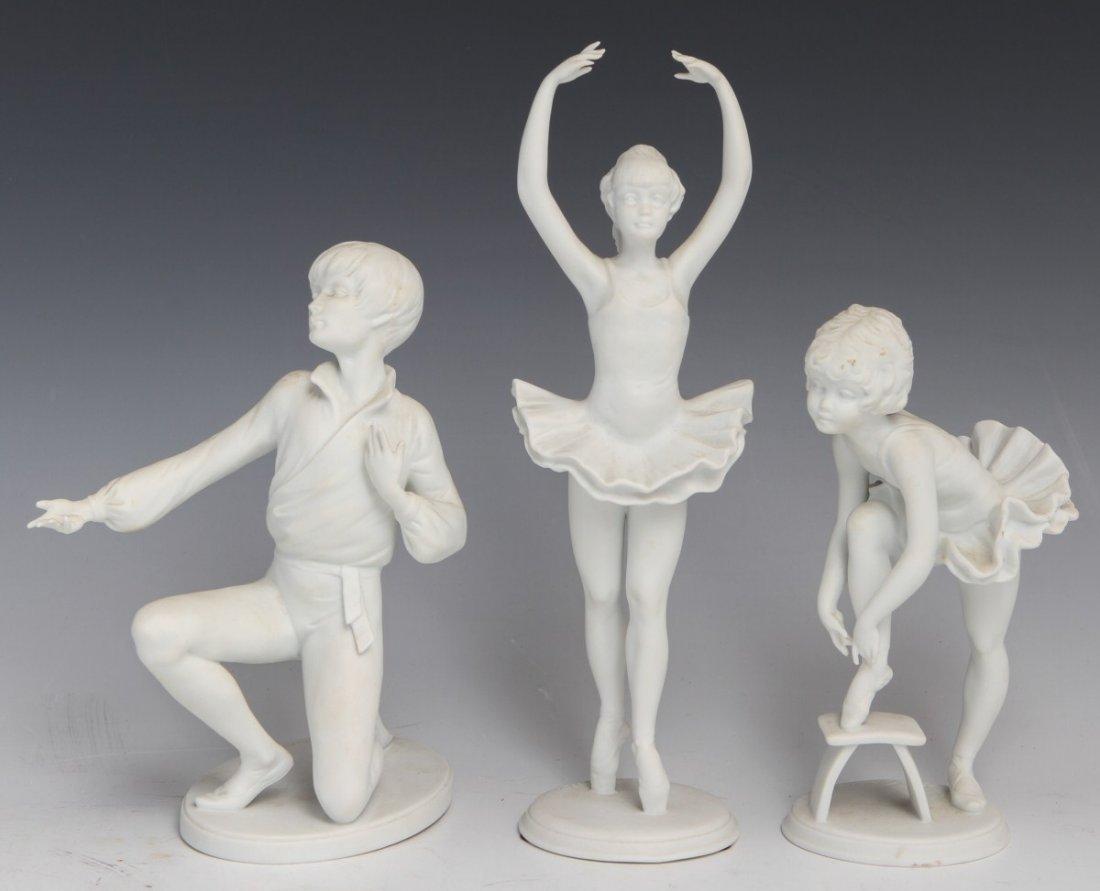 LOT OF 3 KAISER PORCELAIN DANCER FIGURINES