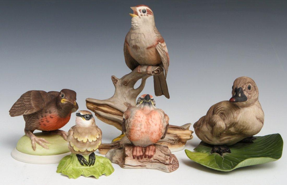 LOT OF FIVE BOEHM PORCELAIN BIRDS
