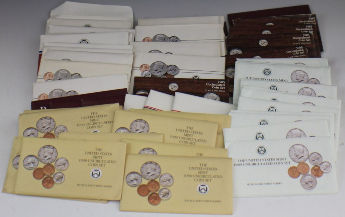 48 US UNCIRCULATED AND SPECIAL SETS 1984 - 1990