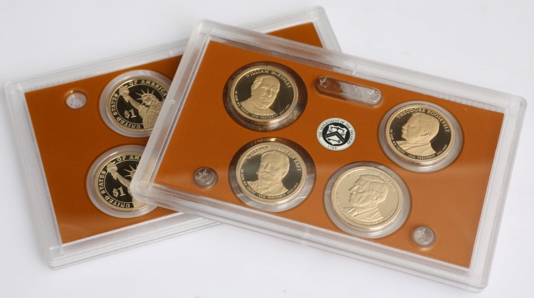 2 UNITED STATES MINT 2013 PRESIDENTIAL $1 PROOF