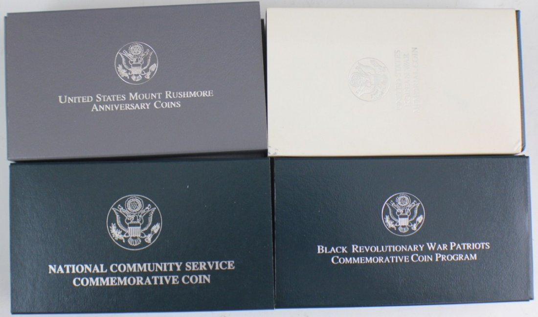 8 UNITED STATES COMMEMORATIVE PROOF SILVER DOLLARS