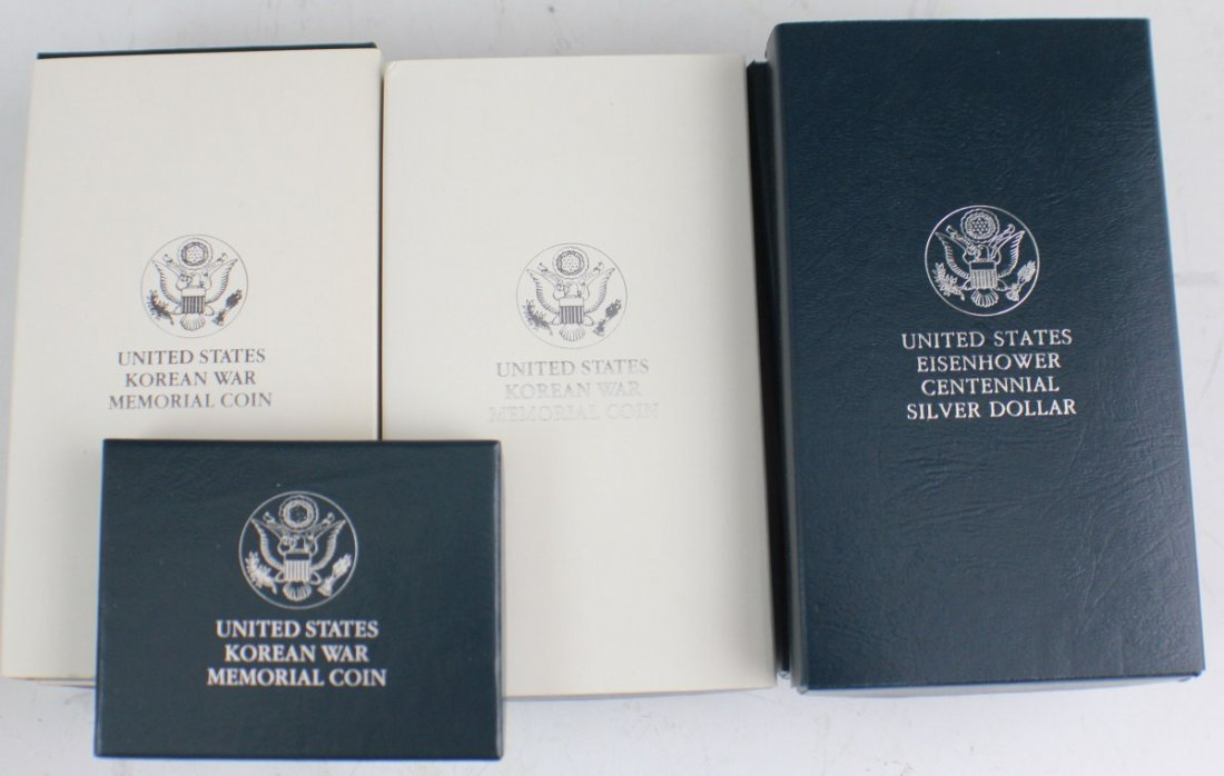 8 UNITED STATES COMM PROOF & MS SILVER DOLLARS