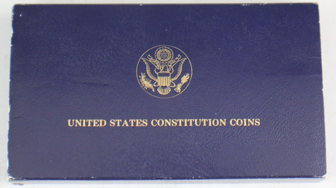 1987 UNITED STATES CONSTITUTION TWO COIN SET