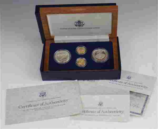 1987 UNITED STATES CONSTITUTION FOUR COIN SET
