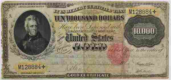 1900 $10,000 GOLD CERTIFICATE FINE