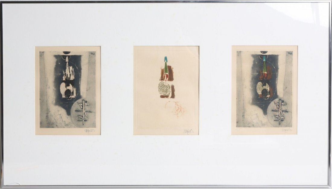 JOHNNY FRIEDLAENDER SIGNED ETCHING TRIPTYCH