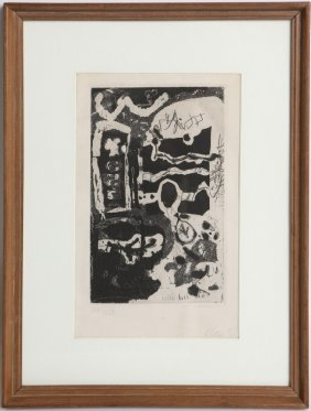 ANTONI CLAVE SIGNED ETCHING