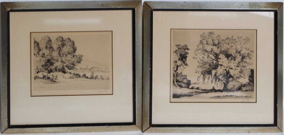 (2) SIGNED LANDSCAPE ETCHINGS