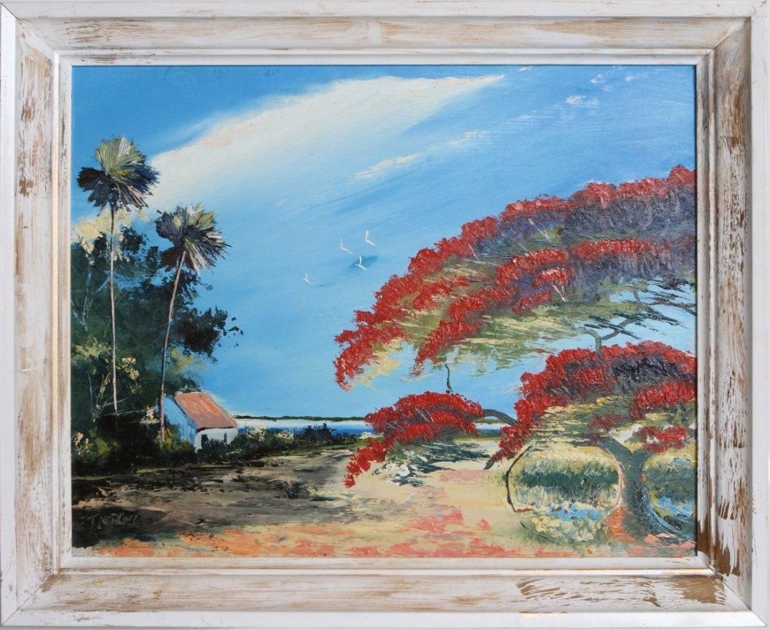 TRACY NEWTON POINCIANA HIGHWAYMEN STYLE PAINTING