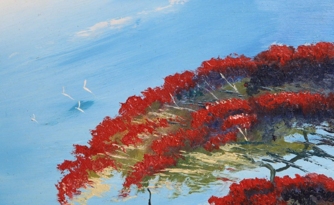 TRACY NEWTON POINCIANA HIGHWAYMEN STYLE PAINTING - 2