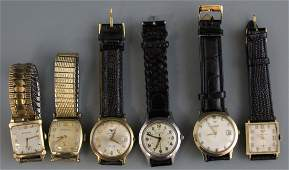 (6) MENS WRISTWATCHES BY WITTNAUER
