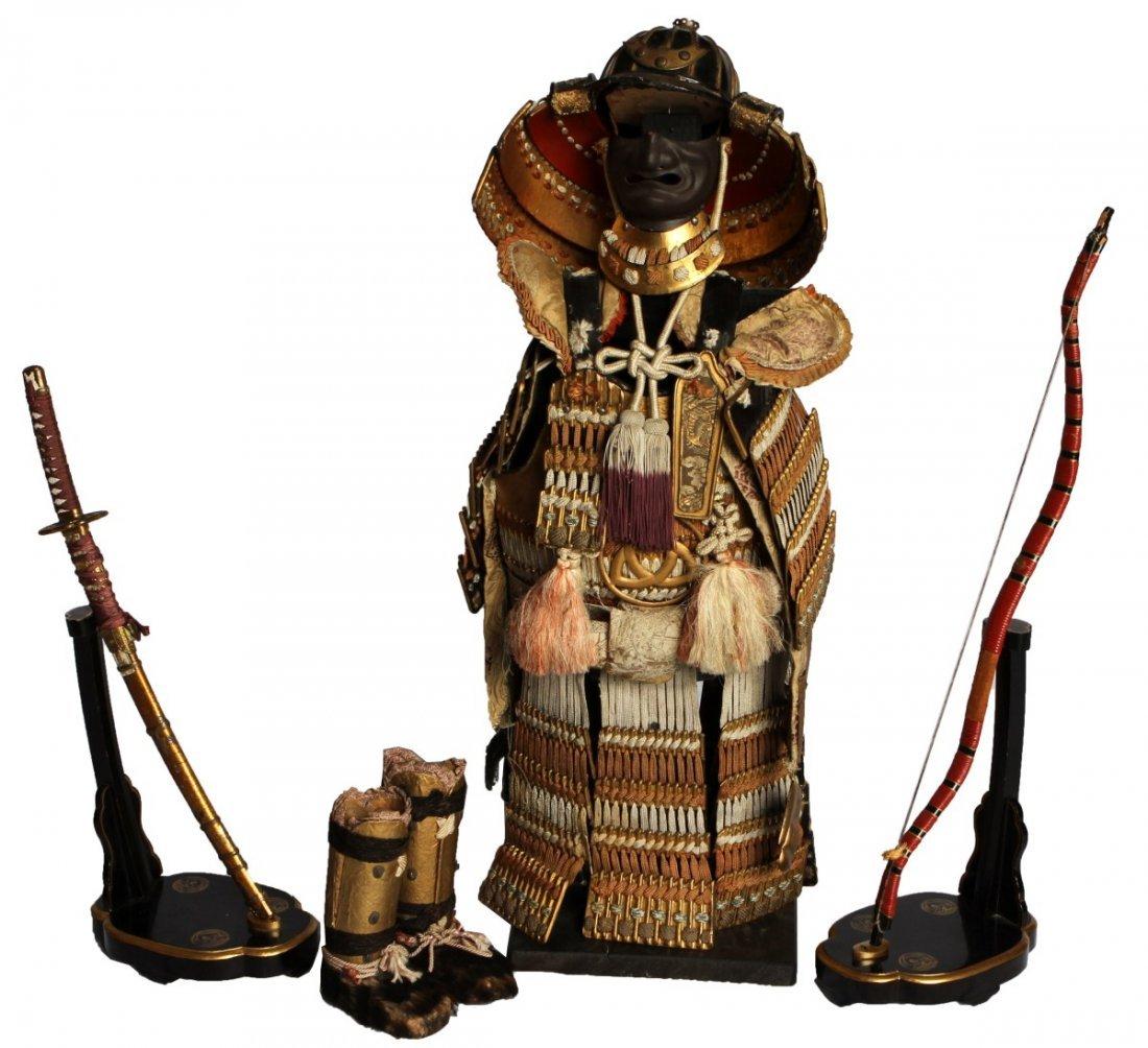 Miniature Japanese Samurai Armor Display