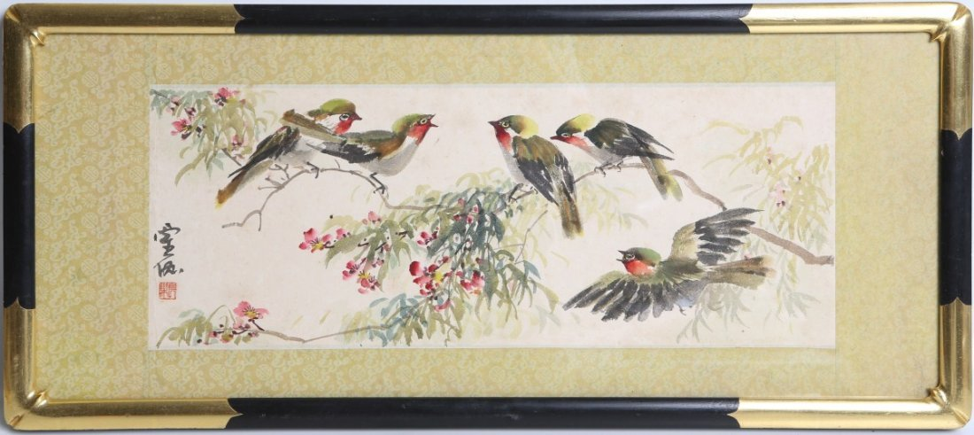 CHINESE CALIGRAPHY BIRDS