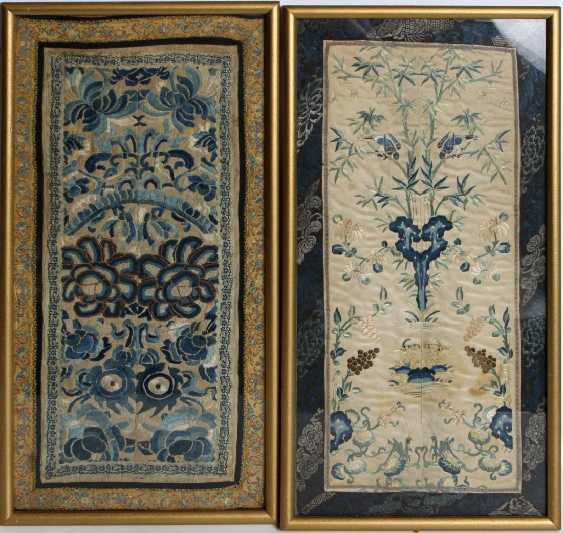 (2) FRAMED CHINESE SYMMETRICAL EMBROIDERIES