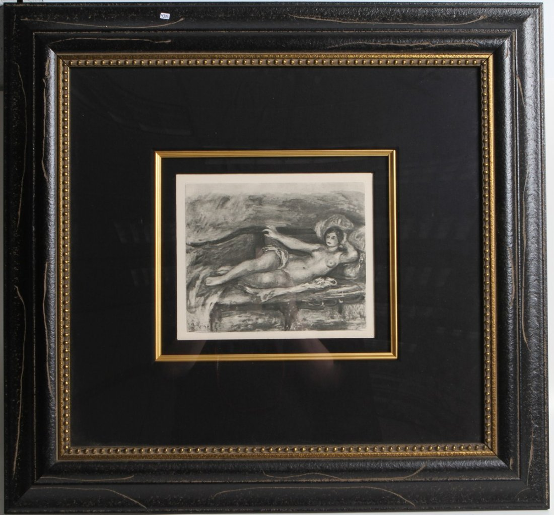 """LIMITED EDITION RENOIR PRINT OF """"LE REPOS"""""""