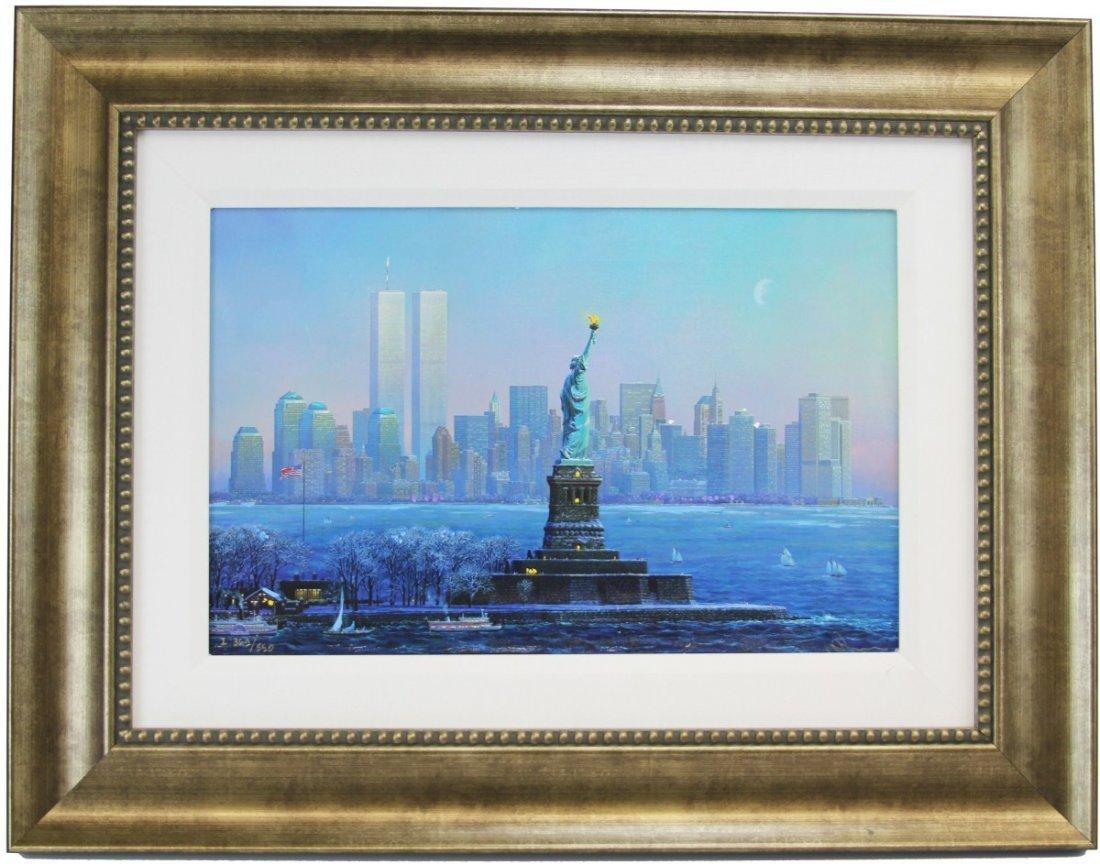ALEXANDER CHEN I LOVE NEW YORK FRAMED LITHO
