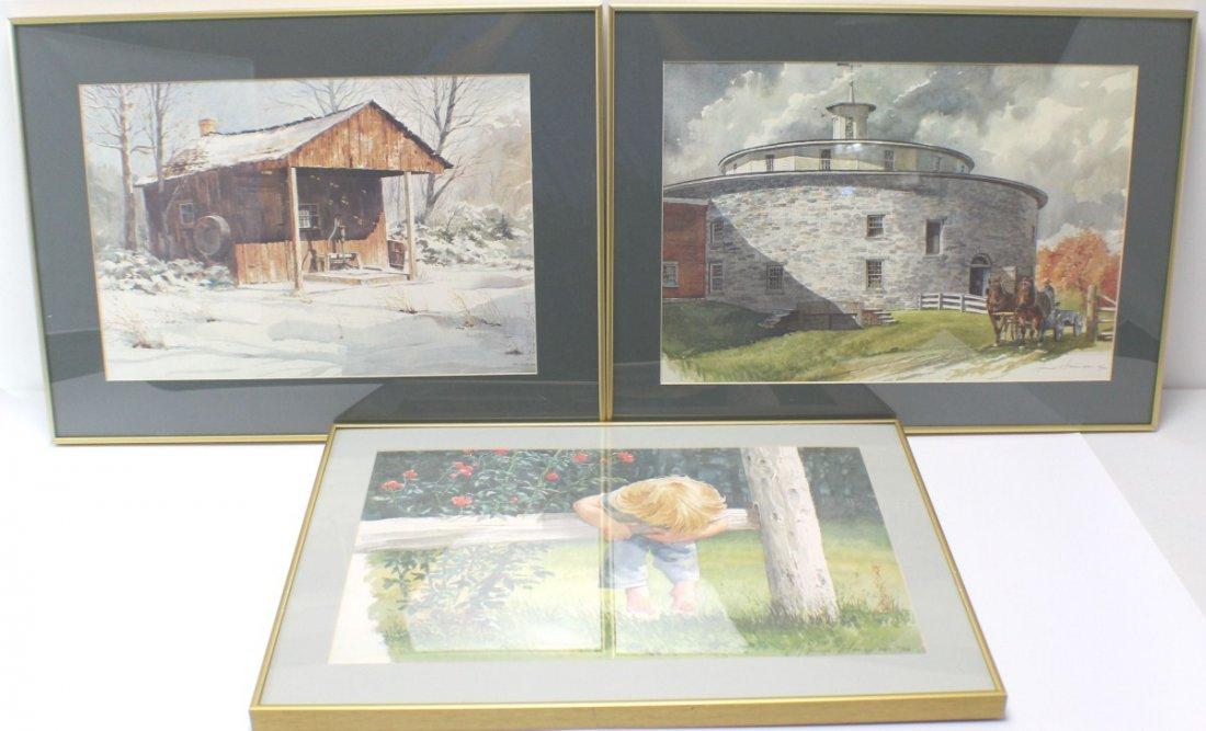 HOMER O HACKER THREE SIGNED LE LITHOGRAPHS