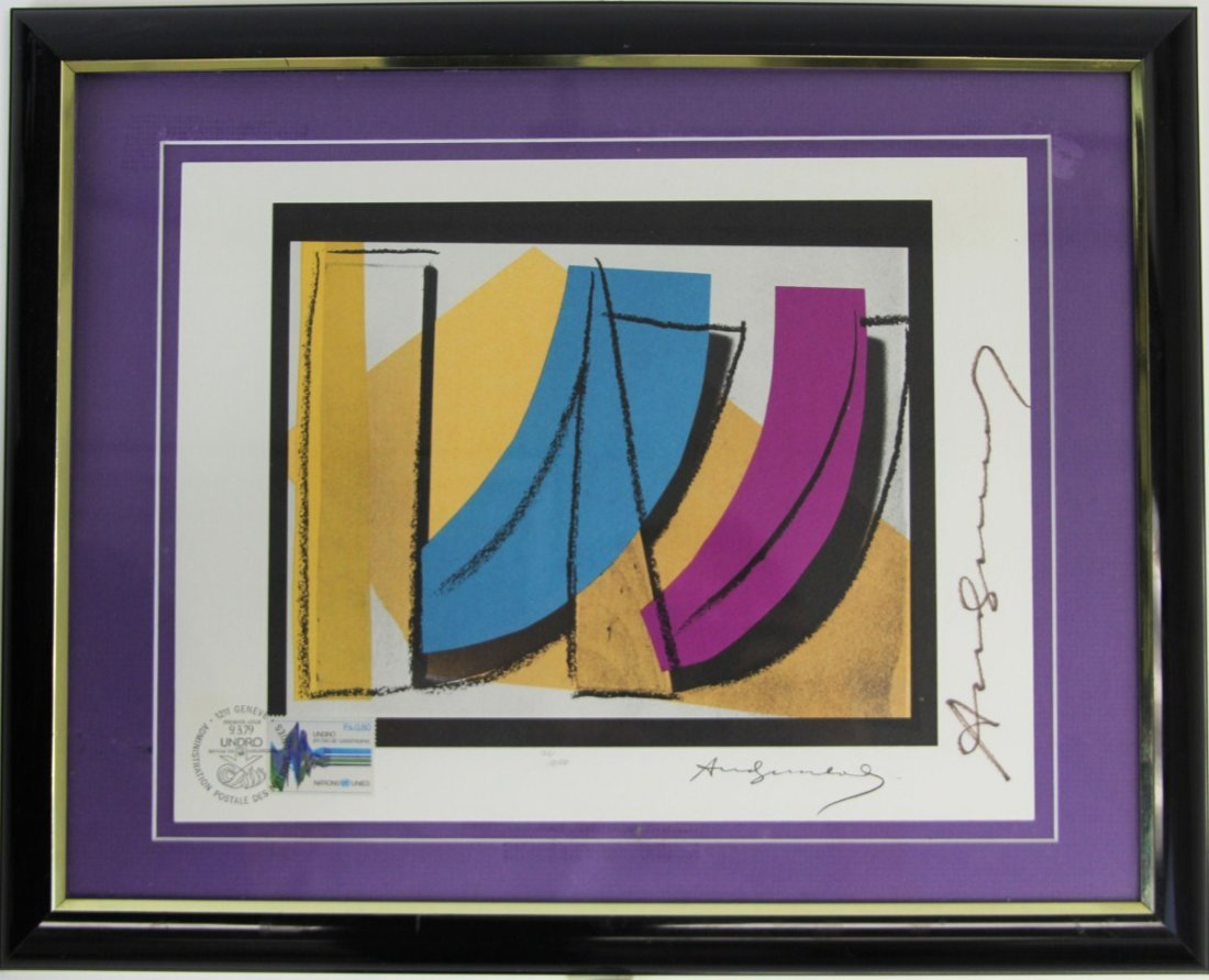 ANDY WARHOL SIGNED UN STAMP LIMITED EDITION SIGNED