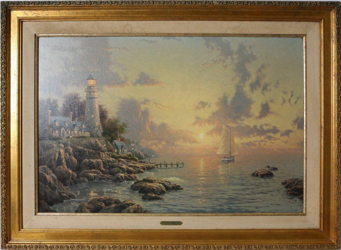 THOMAS KINKADE SEA OF TRANQUILITY LE LITHO CANVAS